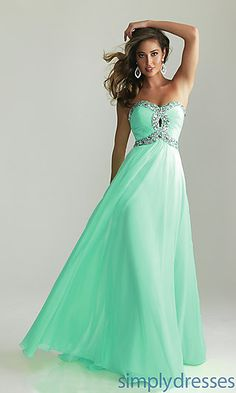 Strapless Prom Gown by Night Moves 6642 at SimplyDresses.com