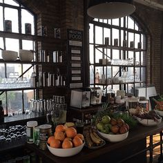 """""""The juice bar at Annie's startup. I want to work here!"""" - nm   Nancy Meyers' behind-the-scenes instagrams on the set of The Intern, starring Robert De Niro and Anne Hathaway."""