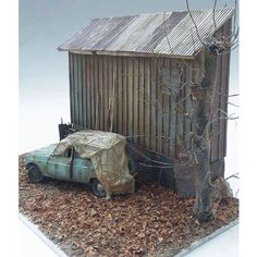 Great Dio!! By: Olivier Noel From: Abandoned miniatures  #car #abandonado #desgaste #usinadoskits #udk #miniatura #miniature #miniart #cena #scene #carro #erosion #weathering #dio #diorama