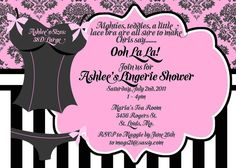 74 best bridal shower invitations images on pinterest bridal a lingerie theme find this pin and more on bridal shower invitations filmwisefo