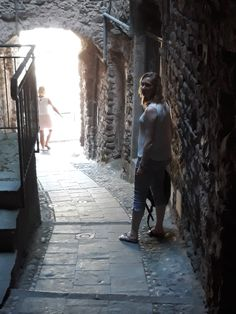 The 1000 year old streets of Pigna-Liguria-Italie (own photo Veerle Vanspauwen)