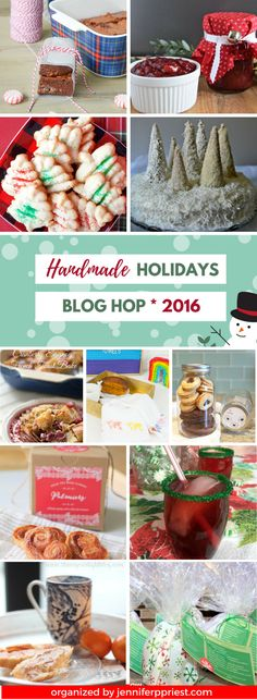 Over 10+ holiday recipe and food gift ideas as part of the 75+ idea Handmade Holidays Blog Hop! CLICK this pin to see more ...