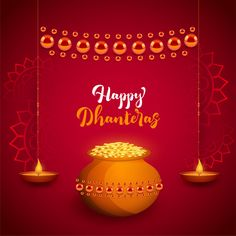 May the divine blessings of the almighty bestow you with plentiful fortunes and endless love. Happy Dhanteras everyone! May the divine blessings of the almighty bestow you with plentiful fortunes and endless love. Happy Dhanteras everyone! Dhanteras Wishes Images, Happy Dhanteras Wishes, Diwali Wishes, Diwali Greetings, Happy Diwali Status, Diwali 2018, Golden Background, Party Background, Dekoration