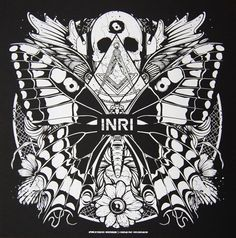 INRI Records - Silkscreen Poster Number Zero 2011 by Steuso , via Behance