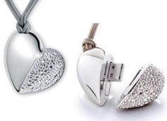 Philips ve Swarovski aktif kristalleri usb - Son Teknoloji Gadgets And Gizmos, Tech Gadgets, Cool Gadgets, Electronics Gadgets, Computer Gadgets, Usb Drive, Usb Flash Drive, Cool Inventions, Heart Shapes