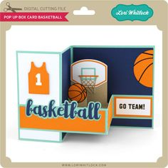 Pop up box card about basketball