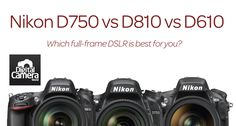 Nikon now has three full-frame DSLRs on the market - but which is the best one for you? We take a look at the key specs and differences between these three cameras in our Nikon vs Nikon vs Nikon comparison. Nikon Camera Lenses, Nikon Digital Camera, Nikon Cameras, Leica Camera, Canon Lens, Digital Slr, Film Camera, Gopro Photography, School Photography
