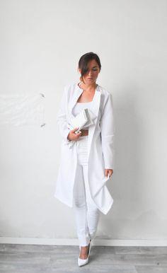 Selfmade White Summer Coat k-fa.blogspot.nl | DIY | Pinterest