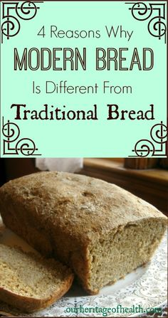 4 Ways Modern Bread is Different From Traditional Bread 4 reasons why modern bread is different from traditional bread Quick Bread Recipes, Real Food Recipes, Diet Recipes, Healthy Recipes, Eat Healthy, Sugar Free Diet, Food Hacks, Food Inspiration, Natural Health