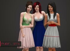3 Vintage 50's Dresses ~ NyGirl Sims