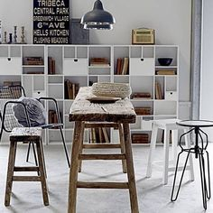 industrial chic built in bookshelves | Mad About . . . Industrial Chic | Mad About The House