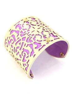 purple & gold cuff