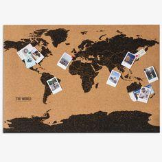Big World Map Cork Travel Pin Board Memo Personalized Wall Decor Gift C Cork Board Map, Cork Map, Cork Boards, Big World Map, Personalized Wall Decor, Travel Crafts, Map Wall Decor, Wall Art, Little Presents