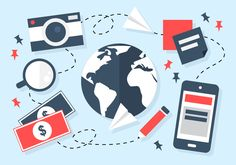 Cheap Travel Savings In order to stay in business, companies are starting to actively look for cheap travel savings U. Free Travel, Cheap Travel, Travel Goals, Travel Style, Travel Bag Essentials, Packing For Europe, Travel Drawing, Free Vector Art, Vector Icons
