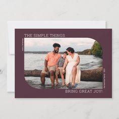Merry Christmas Photos, Simple Christmas Cards, Christmas Photo Cards, Holiday Cards, Christmas Holidays, Minimalist Christmas, Black And White Colour, Zazzle Invitations, Frame