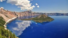 Crater Lake - have only seen it from the air  in winter and it was amazing