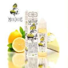 Charlie's chalk dust - Mr Meringue SnV - Shake n Vape Lemon Curd, Meringue, Vape, Water Bottle, Drinks, Merengue, Smoke, Lemon Custard, Beverages
