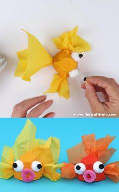 Summer Crafts For Kids, Diy For Kids, Kindergarten Crafts Summer, Crafts For Children, Summer Crafts For Preschoolers, Kids Arts And Crafts, Cool Crafts For Kids, Crafts For Toddlers, Summer Kids