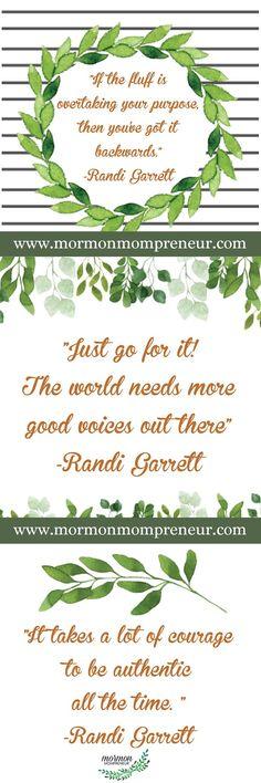 Mormon Mompreneur quotes from Randi Garrett Desing