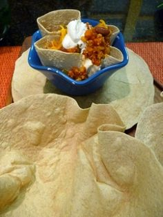 How to Make Tortilla Bowls in seconds. Perfect for soups or salads.