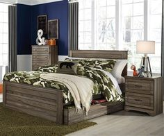 Javarin Panel Bed with Trundle Full Size by Ashley Furniture B171