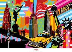 New York Taxi I Kunstdruk