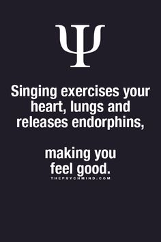 Yeah, but sounding like a dying crow when singing, does not benefit those who are forced to hear my singing...