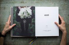 Cookbook Design for M E N Ü