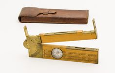 Outstanding J. P. CORBUS Boxwood Clinometer Level Rule Combination Tool