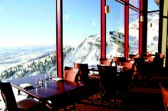 The breathtaking Couloir restaurant -- experience dining at 9095 feet altitude, Jackson Hole Mountain Resort.  #jacksonhole