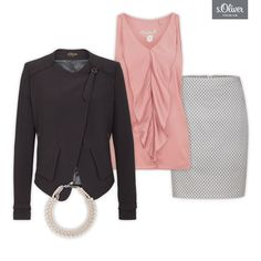 Check out 1 blazer - 3 styles #style #outfit #combination #blazer #black #skirt