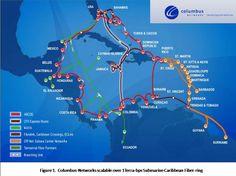 Caribbean Business Communication, Submarine Fiber Cable Connection. latinindustry.biz
