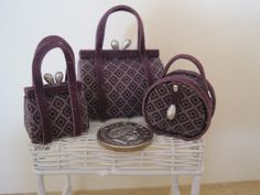 12th Scale Dollshouse 3 Piece Ladies Luggage Set in by 12thCouture. £9.00 GBP, via Etsy.