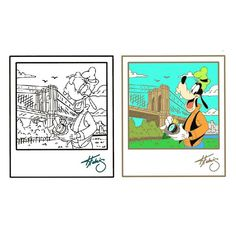 Disney art by Keith Fulmis Disney pin Goofy
