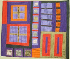 """Image of quilt titled """"Buildings I"""" by Carol To ~love the hand quilting~"""