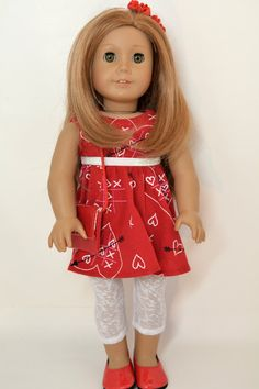 """18"""" Doll Clothing fits American Girl Doll - 5 piece outfit includes shoes 411da11e9bc3"""