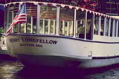 All aboard - boat tour of the Charles River on the Henry Longfellow. DiscoverTheCharle...