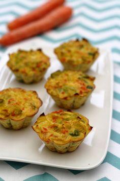 Flans aux poireaux, carottes, curry et parmesan à 2SP Weight Watchers.