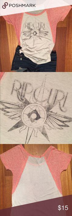 Rip Curl Slouchy Shirt Light weight cute slouchy shirt. Rip Curl Tops