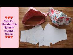 how to make face mask Behelf - facemask Sewing Patterns Free, Free Sewing, Free Pattern, Diy Mask, Diy Face Mask, Crochet Blanket Patterns, Crochet Stitches, Pocket Pattern, Beautiful Crochet