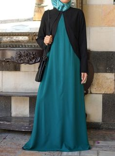 Dress and Jacket Set Save 44% Teal Green color  We can't resist a piece that transitions so easily from day to night and season to season. The uniquely-styled jacket adds extra coverage and flair to a floor-skimming long-sleeve maxi dress. This ensemble is as effortless in style as it is elegant in design and aesthetics. Its carefree femininity embodies the spirit of what it means to be modest and graceful.