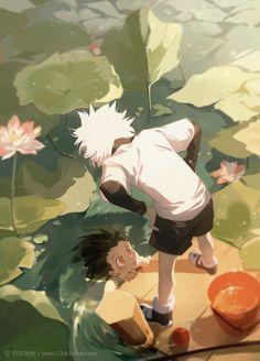 Anime: Hunter x Hunter Hisoka, Killua, Alluka Zoldyck, Manga Anime, Fanarts Anime, Anime Art, Hunter Anime, Hunter X Hunter, City Hunter