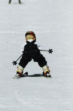 Little ski racer