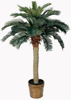 Nearly Natural 5043 Sago Silk Palm Tree, 4-Feet, Green *** Want to know more, click on the image. (This is an affiliate link) #HomeDecorIdeas