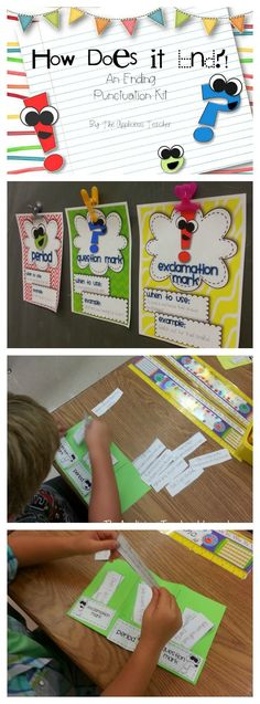 Great way to review ending punctuation. Posters, sentence sort, centers, and an…