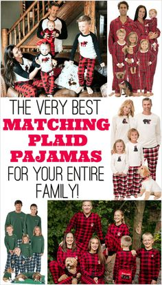 Cute Christmas card idea! Plaid Family Pajamas for the whole family.  Matching Family Christmas 6b04ac94d