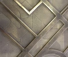 Lift door stage go w/ brass over stone or concrete instead Joinery Details, Material Board, Wall Cladding, Wall Treatments, Surface Pattern, Textured Walls, Architecture Details, Textures Patterns, Wall Design