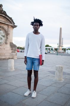 Paris Men's Fashion Week street style. [Photo: Kuba Dabrowski]