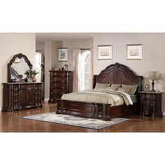 Pulaski Edington 5 Piece Queen Bedroom SetEdington Q  Bed/Dresser/Mirror/Chst/