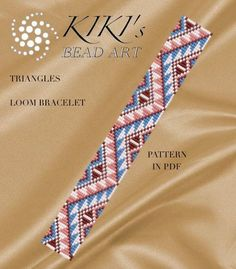 Bead loom pattern - Triangles ethnic inspired LOOM bracelet pattern in PDF - instant download